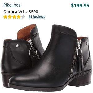 Pikolinos Daroca Leather Zip Booties Boots